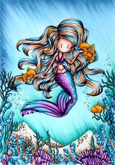 Kit and Clowder: Birthday Fishes + Copic Technique Workshop Water Sand Skin Hair Tall Blue/purple coral Fish Aqua coral The background technique is modelled after a tutorial that the amazing Barbara from Forgotten Scraps shared last year. Online Coloring, Adult Coloring, Coloring Books, Spectrum Noir Markers, Tiddly Inks, Copic Art, Mermaids And Mermen, Fantasy Mermaids, Coloring Tutorial