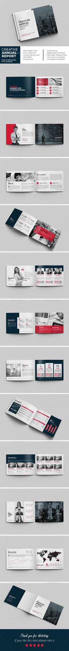 Creative Annual Report Brochure - #Corporate #Brochures Download here:  https://graphicriver.net/item/creative-annual-report-brochure/19530251?ref=alena994