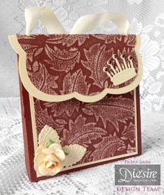 Debra Shaw - Downton Abbey Collection - Bag - Leaf Flourish Embossing Folder, Downton Abbey Icons Dies - Core'dinations - Collall All Purpose & Tacky glues - #crafterscompanion #DowntonAbbey
