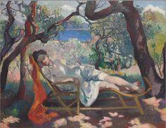 Henri Manguin (1874-1949) La Sieste ou Le Rocking-Chair, 1905 Huile sur toile - 89 x 117 cm Winterthur, Villa Flora, collection particulière...