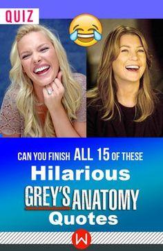 How well do you remember these Grey's Anatomy quotes? Grey's Funny, Greys Anatomy hilarious, Greys Anatomy laughs, Grey's Anatomy humor, Meredith Grey, Izzie Stevens, Ellen Pompeo, Shondaland, Grey's Quiz.