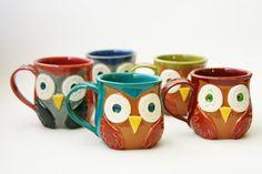 {Mr. Owl Ceramic Mug}