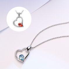 Halskette mit Swarovski Elements und Herz-Anhänger - Jetzt reduziert bei Lesara