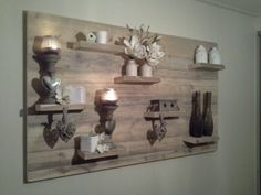 Wandbord hout interieur Definately wanna make this one #diy #doehetzelf #zelfmaken