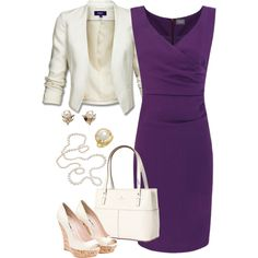 purple and white, created by riictr on Polyvore