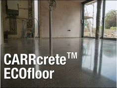 CARRcrete ECOfloor - Polished Concrete Floor Wiltshire UK This video shows the process, before and after our ECOfloor process which is a grind, hone and seal. Polished Concrete, Concrete Floors, Flooring, Interior, Indoor, Concrete Floor, Wood Flooring, Interiors, Floor