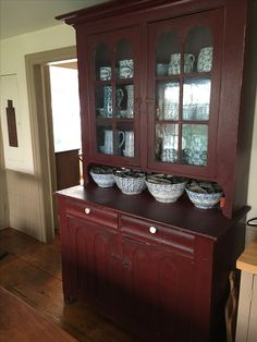 Wooden Cupboard Cabinets Cupboards Primitive Furniture Decor China Cabinet Country Farmhouse Primitives