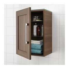 Available online $70-$80 GODMORGON Wall cabinet with 1 door - walnut effect - IKEA