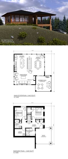 1440 sq. ft, 3 bedrooms, 1 bath.
