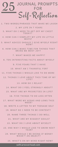 25 Journal Prompts For Self-Reflection - Self-Care Overload - - Journaling is the necessary tool to release your inner thoughts. These Journal Prompts for self-reflections will increase your knowledge on yourself. Journal Writing Prompts, Bullet Journal Prompts, Bullet Journal Questions, Gratitude Journal Prompts, Art Prompts, Self Care Bullet Journal, Bullet Journal Reflection, Therapy Journal, Art Therapy