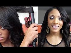 How to Curl your hair with Flat Iron/Straightener [Video] - http://community.blackhairinformation.com/video-gallery/relaxed-hair-videos/curl-hair-flat-ironstraightener-video-2/