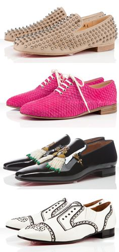 4 incredible creations for fall by Christian Louboutin. More Hot Fashion Trends and trending Men's Shoes @ www.pinterest.com/rickysturn/mens-fashion