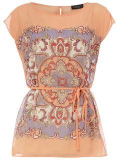 Scarf print shirt. Dress up or down.