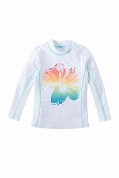 Girl's Long Sleeve Surf Shirt - Print: Sun Protective Clothing - Coolibar