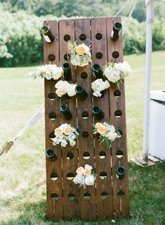 Minnesota Wedding from Munster Rose + Emma Freeman Photography Wine and floral display Photography b Farm Wedding, Rustic Wedding, French Wedding, Vineyard Wedding, Wedding Bells, Wedding Flowers, Dream Wedding, Wine Display, Wedding Reception Decorations