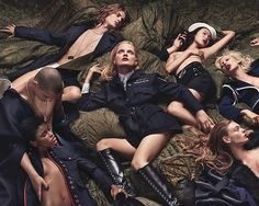 Make love, not war. A seductive take on Fall military trend. Photo by styled by W magazine October Sang Woo Kim, Bhumika Arora, Edward Enninful, Military Trends, Sam Mcknight, W Magazine, Magazine Covers, Craig Mcdean, Campaign Fashion