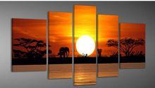 Grote Moderne Olieverfschilderijen danser muziek bloem landschap op Canvas…