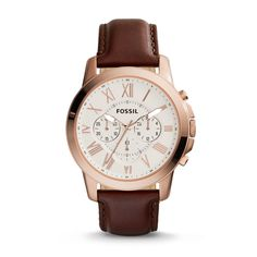 FS4991 - Grant Chronograph Leather Watch - Brown