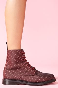 Dr Martens Evan 7 Eye Boot - Cherry Dot these are BEAUTIFUL!