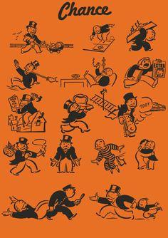Vintage Monopoly Mr Pennybags Chance Card Vectors by robdevenney on DeviantArt Monopoly Party, Monopoly Theme, Monopoly Man, Monopoly Board, Best Templates, Card Templates, Certificate Templates, Game Bit, Graphic Design Templates