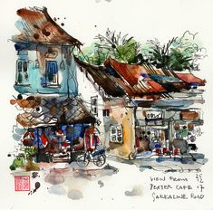 Sketches from Laos | EPSON MFP image | Paul Wang | Flickr