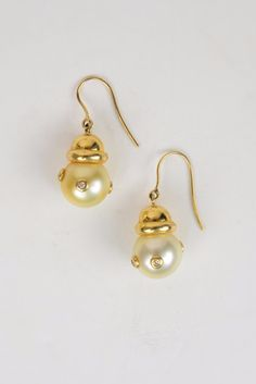 Diamond and South Sea Earrings - Hottest Designer Pearl and Leather Jewelry | VINCENT PEACH