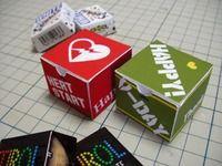 バレンタインデーのギフトボックス papercraft