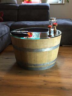 Weinfass Tisch Mit 70 Cm Glasplatte