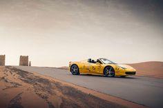 @ferrari #458spider in the #desert #supercarsclubarabia #delmonya