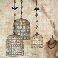 Eloquence Reproduction Birdcage Chandelier. @Sarah Nasafi Grayce #laylagrayce #chandelier #newportcottages