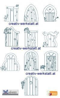 fairy door template drAwing - Google Search - Today's Gardens