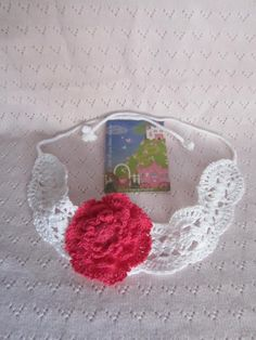 Flower Girl Headband Crochet Flower Headband White Headband Lace Headband Headband Crochet Flower Headband gift under 20 (13.99 USD) by MiLaViKnits