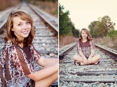 Senior Girl Photography-Railroad Tracks