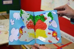 Kids making the book ' The four seasons '. ARTincorpo project for County Library in La Maddalena island, Italy.