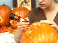 Carving a pumpkin with a Dremel Rotary Tool