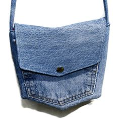 Handmade Recycled Blue Denim Pocket Bag by TheCraftyWagon on Etsy,  TEAMPINTEREST