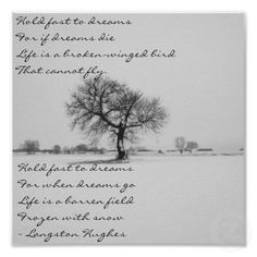 Langston Hughes HOLD FAST TO DREAMS