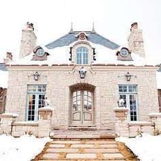 French Chateau, French, home exterior, Decor de Provence