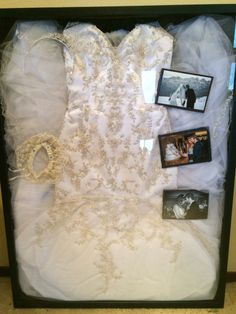 Wedding dress display shadow box                                                                                                                                                     More