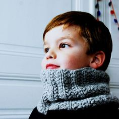 tutorial (by Gloubi) of the cozy maxi collar with false English ribs (for Arthur: to do in chestnut color) Knitting For Kids, Baby Knitting, How To Purl Knit, Lace Patterns, Neck Warmer, Crochet Yarn, Little Boys, Arm Warmers, Cool Kids