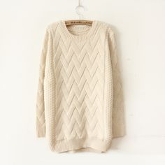 Woven sweater look
