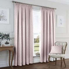 Blush Curtains, Net Curtains, Kitchen Curtain Sets, Kitchen Curtains, Nursery Curtains Girl, Curtains Ready Made, Pencil Pleat, Room Darkening Curtains, Colors
