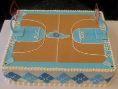 Carolina Basketball Cake