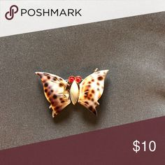Butterfly shell pin Butterfly pin. Wings are made from seashells. Jewelry Brooches