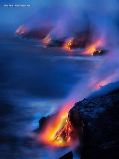 Big Island lava flow by Mike Neal