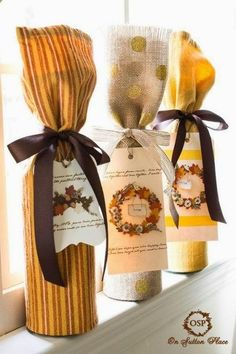 Gift bottle #christmas #decor #holidays #diy #gift #ornamentation #gifts