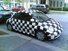 The only car I want is a beetle.with eye lashes! Vw Super Beetle, Beetle Car, Custom Vw Bug, Checkered Flag, Gingham, Ferdinand Porsche, Cute Cars, Love Bugs, Vw Beetles