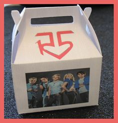 R5 favor box R5 birthday favor box R5 Party by tinygiftboxes