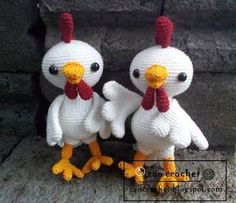 #crochet, free pattern, amigurumi, stuffed toy, Rooster, chicken, Easter, by Zan Crochet, #haken, gratis patroon (Engels), haan, kip, knuffel, speelgoed, #haakpatroon