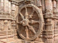 Wheel of Konark, Orissa, India.